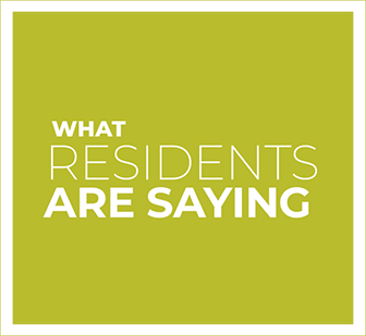 What residents are saying