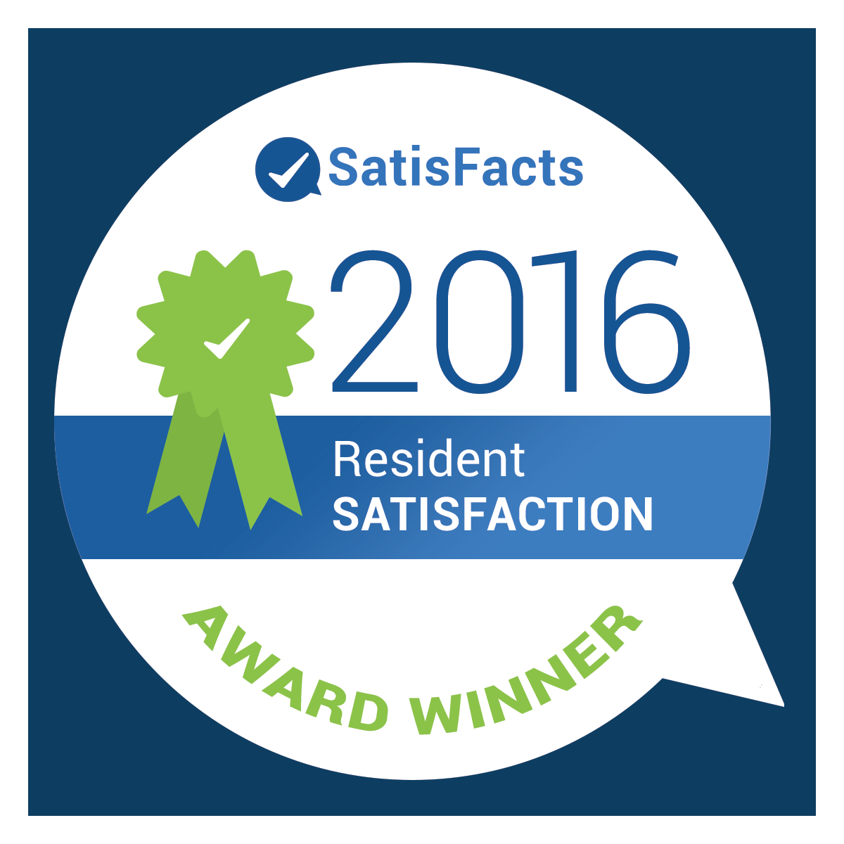 It's Official - 2016 Resident Satisfaction Winners!