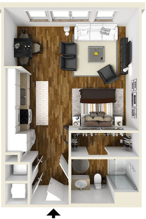Studio Apartments Raleigh NC | The Lincoln Apartments | Floor Plans
