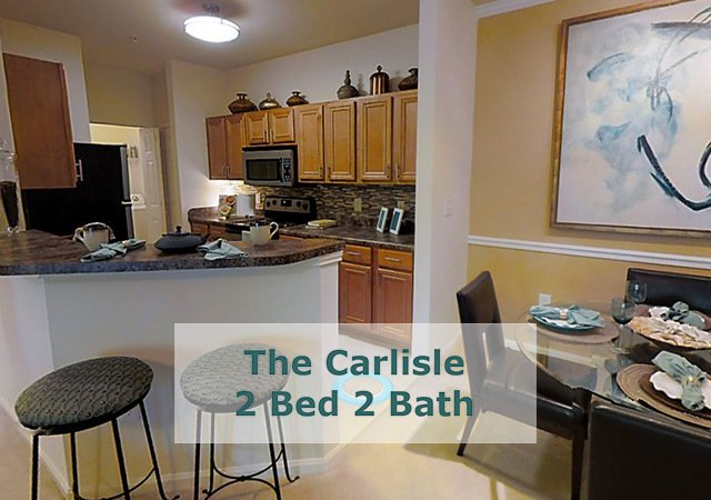 Tradition at Stonewater Apartments - The Carlisle Kitchen Area