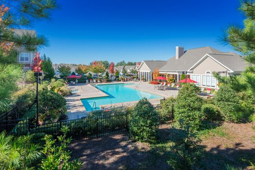 Tradition at Stonewater Apartments - Aerial View of Pool