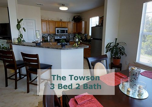 Tradition at Stonewater Apartments - The Towson Kitchen Area