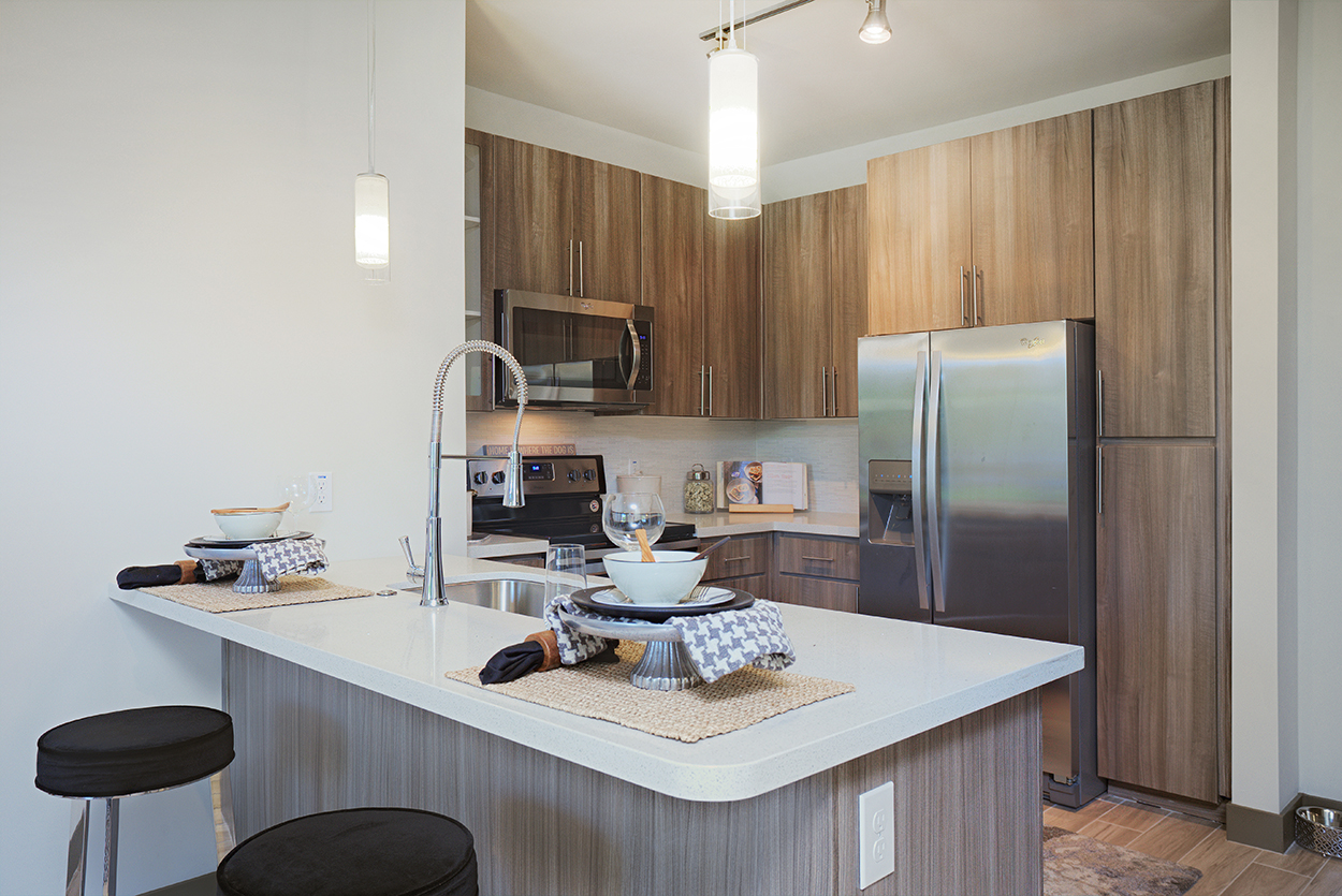Audere Apartments   Kitchen With Stainless Steel Appliances